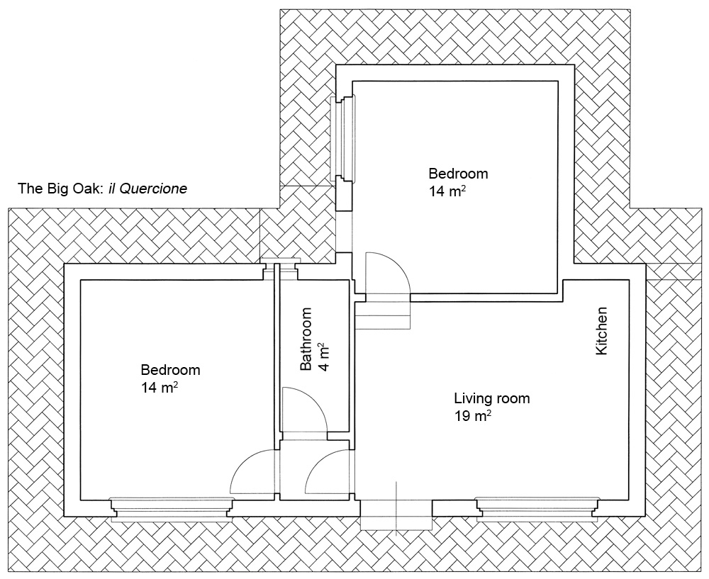 Awesome piantina della casa vacanze il quercione poggio for Planimetrie della casa con seminterrato di sciopero