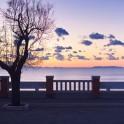 Foto di tramonto a Piazza Bovio, Piombino