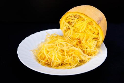 Foto di una zucca spaghetti